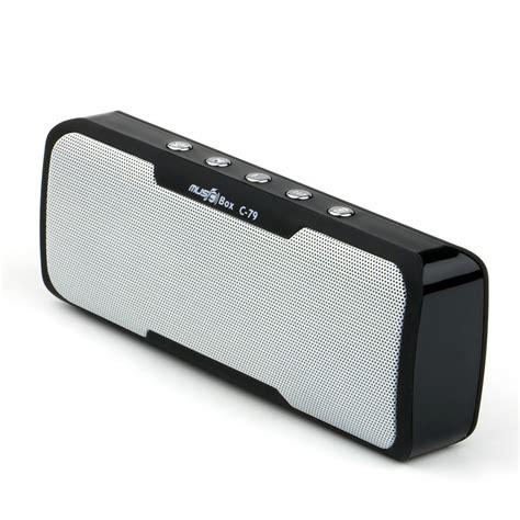 Teknologi bluetooth maupun wireless memungkin anda memutar musik lebih mudah. Music-Box C-79 3D Surround Sound Portable Bluetooth Speaker (Black) with Free Memory Card ...
