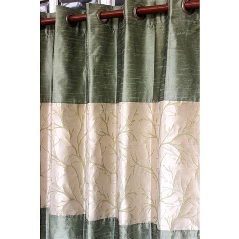 green tree forest curtain panels 52x96 grommet