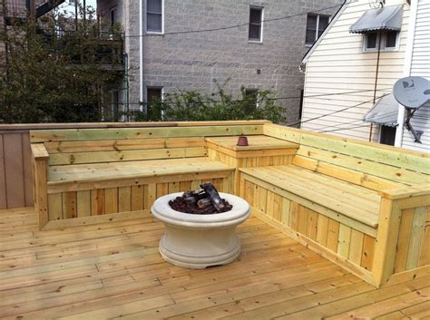built in patio bench seating 25 best ideas about deck benches on deck