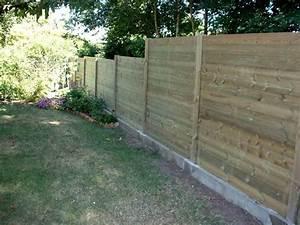 Cloture Jardin Bois : palissade bois bm cloture jardin ~ Premium-room.com Idées de Décoration