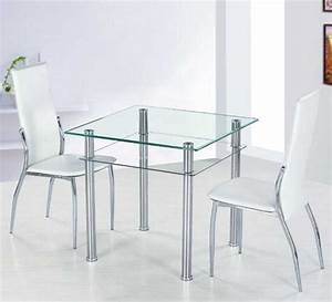 Small glass dining table with metal table legs ideas for Small glass dining tables