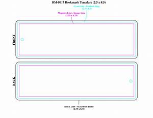 blank bookmark template bookmark template printable free With double sided bookmark template
