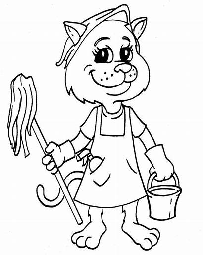 Coloring Pages Tools Cleaning Clean Printable Sheets