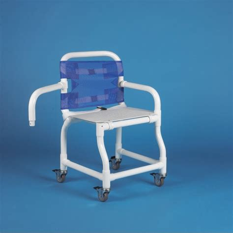 221 swing arm wheeled shower chair with perforated