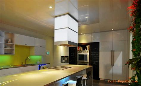 The Stretch Ceiling In The Kitchen by Kitchen Suspended Ceiling