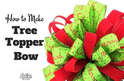 how to make a large tree topper bow best 25 diy tree topper ideas on tree toppers diy tree topper and