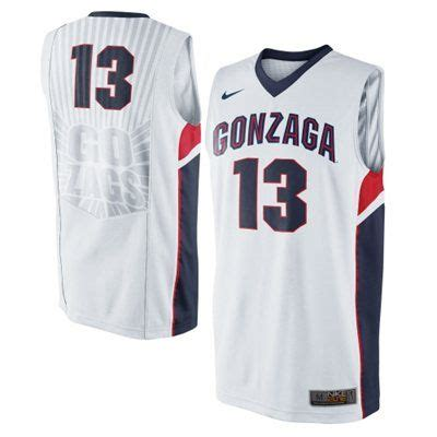 gonzaga bulldogs nike elite basketball jersey white