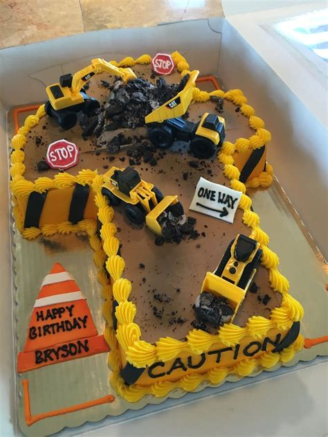 Boysnstruction Cake Shaped Number Cakes Digger