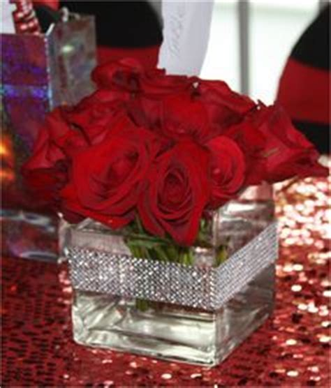 elegant sweet  centerpieces centerpiece red roses