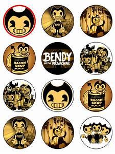 Bendy and Ink Machine Cupcakes - Topcake Ireland