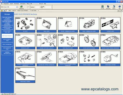 mazad online mazda usa 2009 proquest spare parts catalogue