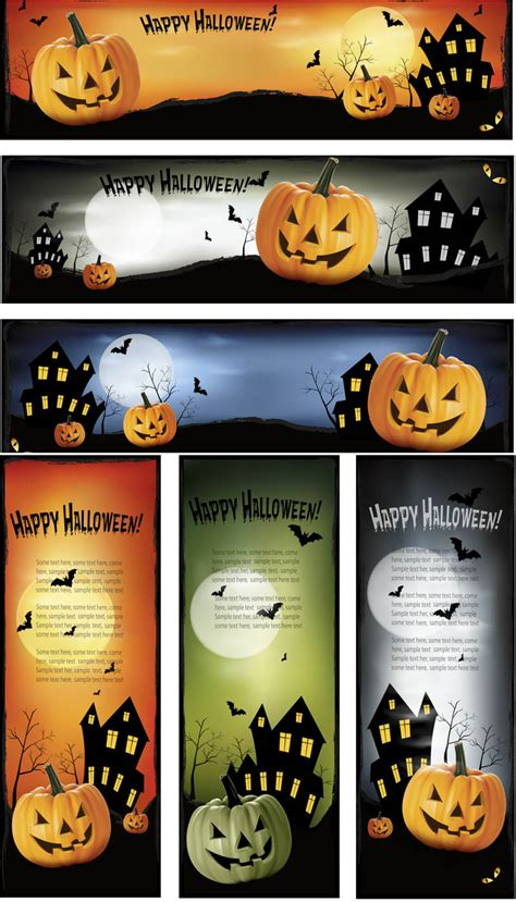 Browse our halloween banner images, graphics, and designs from +79.322 free vectors graphics. Happy Halloween banners vector | Vector Graphics Blog