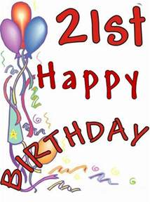 Happy 21st Birthday Clip Art Free