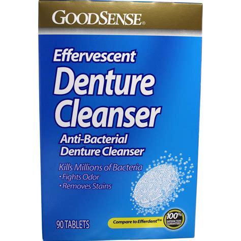 effervescent anti bacterial denture cleanser  goodsense