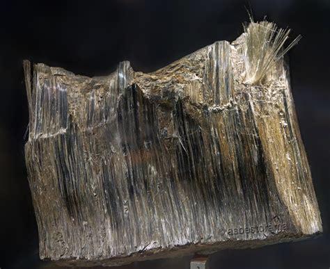 amosite asbestos ore mineral specimen asbestiform