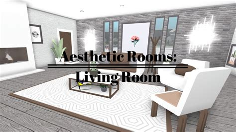 bloxburg aesthetic rooms living room  youtube