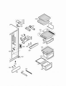 Refrigerator Compartment Diagram  U0026 Parts List For Model