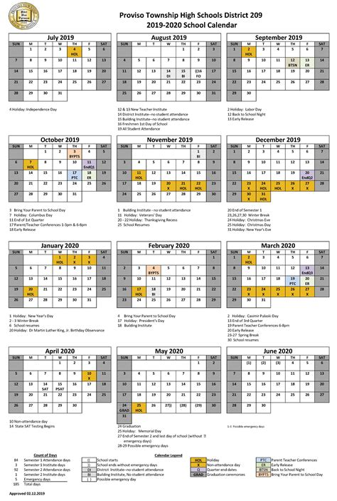 district calendar approved district calendars
