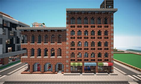 new york brick buildings on world of keralis minecraft project