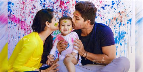 allu arjun reveals  daughters picture jfw   women