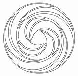 Swirl Coloring Pages Mandala Swirls Circle Printable Popular Getcolorings sketch template