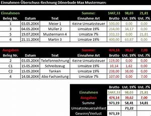 Gutscheine Einnahmen überschuss Rechnung : buchf hrung kleingewerbe buchhaltung infos excel gratis ~ Themetempest.com Abrechnung