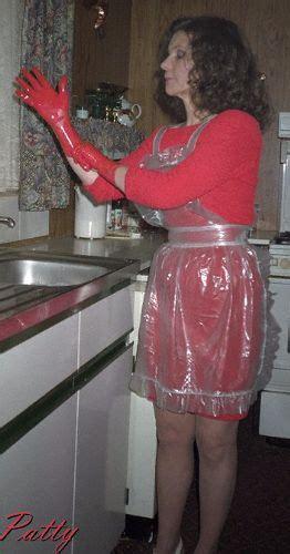 housework time pvc schuerze schuerze kleidung