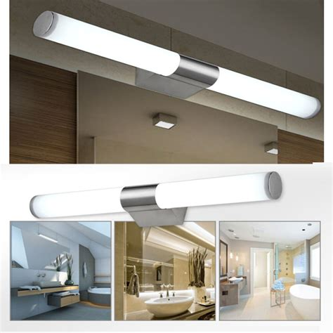 Led Bathroom Lighting Fixtures 18 quot 10w 110v modern bathroom mirror light led wall