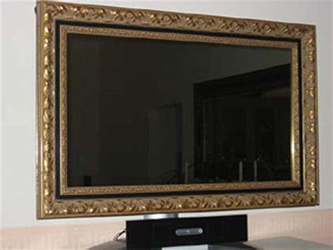 bilderrahmen mit spiegelrahmen plasma und lcd fernseher mit bilderrahmen verzieren
