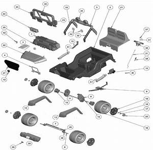 Power Wheels Hot Wheels Jeep Wrangler Parts