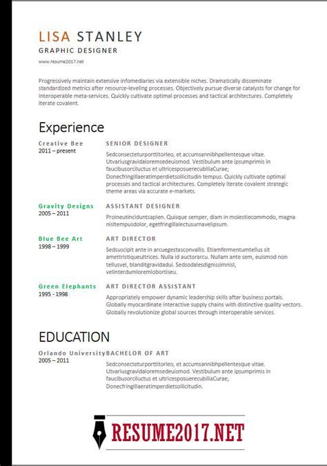 Get Your Dream Job 2018 Resume Templates Professional