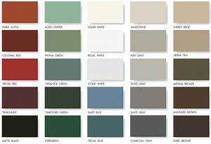 metal roofing siding color chart bing images With corrugated metal siding colors