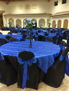 jasmine quinceanera hall decor royal blue black star theme With navy blue wedding decorations