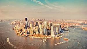 Manhattan, City, From, Above
