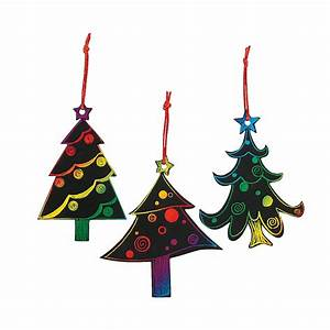 Magic, Color, Scratch, Christmas, Tree, Ornaments