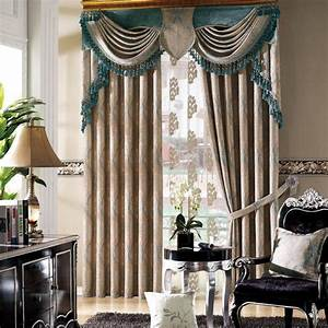 curtain and valance sets 2017 new european style With curtains for bedroom windows with designs 2018