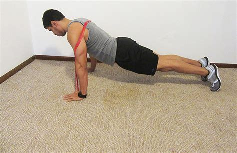 Push UPS with Resistance Bands