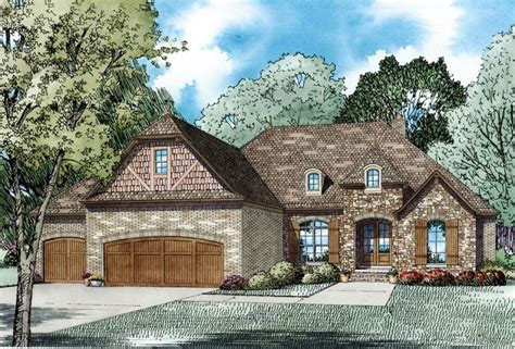 house plan  craftsman european french country style