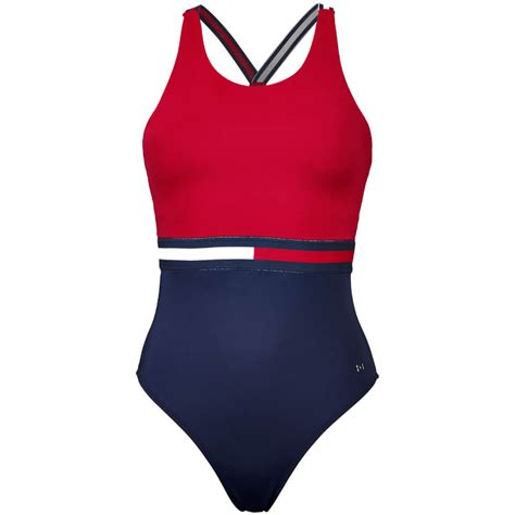 furla top hilfiger 39 s hanalei bathing suit crimson navy
