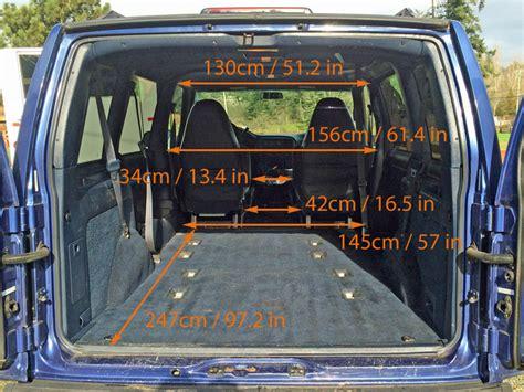 GMC Safari / Astro Van Interior Measurements for Minivan ...
