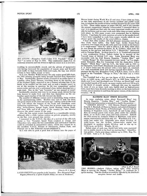 The Sprint Events of the 1920s | Motor Sport Magazine Archive