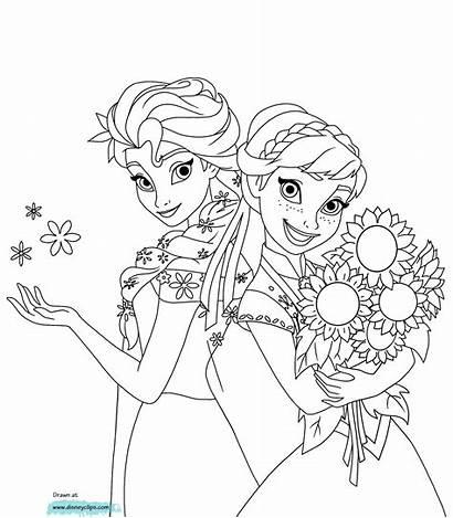 Elsa Frozen Coloring Printable Queen Colorir Anna