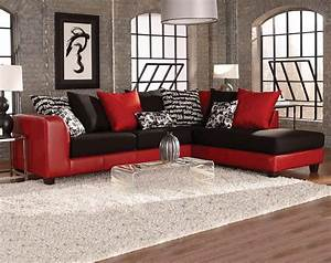 Red and black sectional sofa sofa menzilperdenet for Red sectional sofas cheap