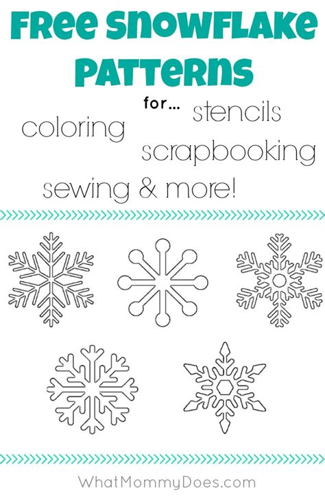 small snowflake template free printable snowflake templates large small stencil patterns