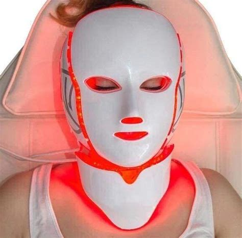 LED Light Therapy Mask Face Neck Massage Acne Photon