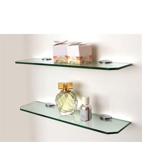 Glass Wall Shelves For Bathroom by Small Glass Shelf Kit 400x100x6mm Mastershelf