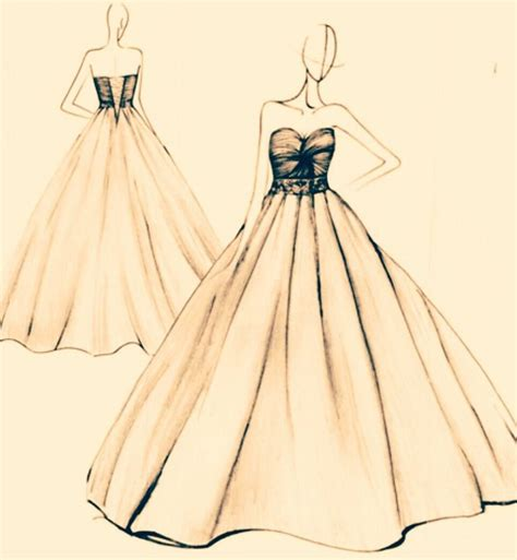 simple fashion design sketches  dresses