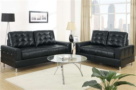 2 Leather Sofa Set by Sofa In Black Leather Sofa Set 2 Living