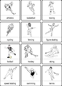 sport vocabulary  kids learning english printable