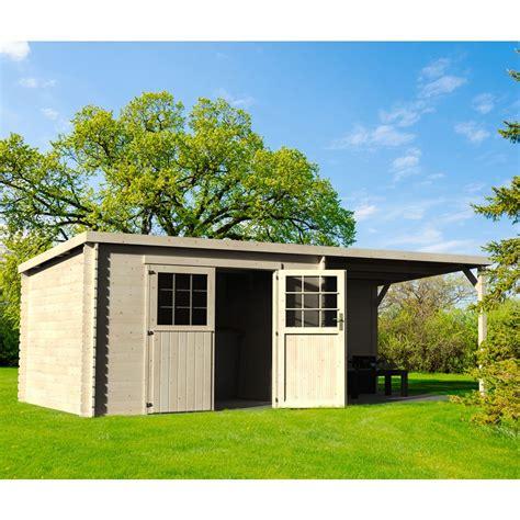 abri en bois abri de jardin bois toit plat auvent 18 31 m 178 ep 28 mm l 330 x l 114 x h 53 cm gamm vert